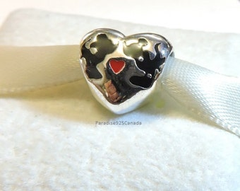 Pandora Sterling Silver Disney Mickey and Minnie Kiss Love Charm Valentines Day gift