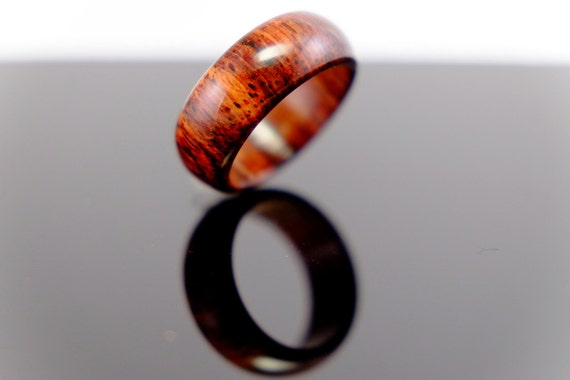 Simple cocobolo wooden ring