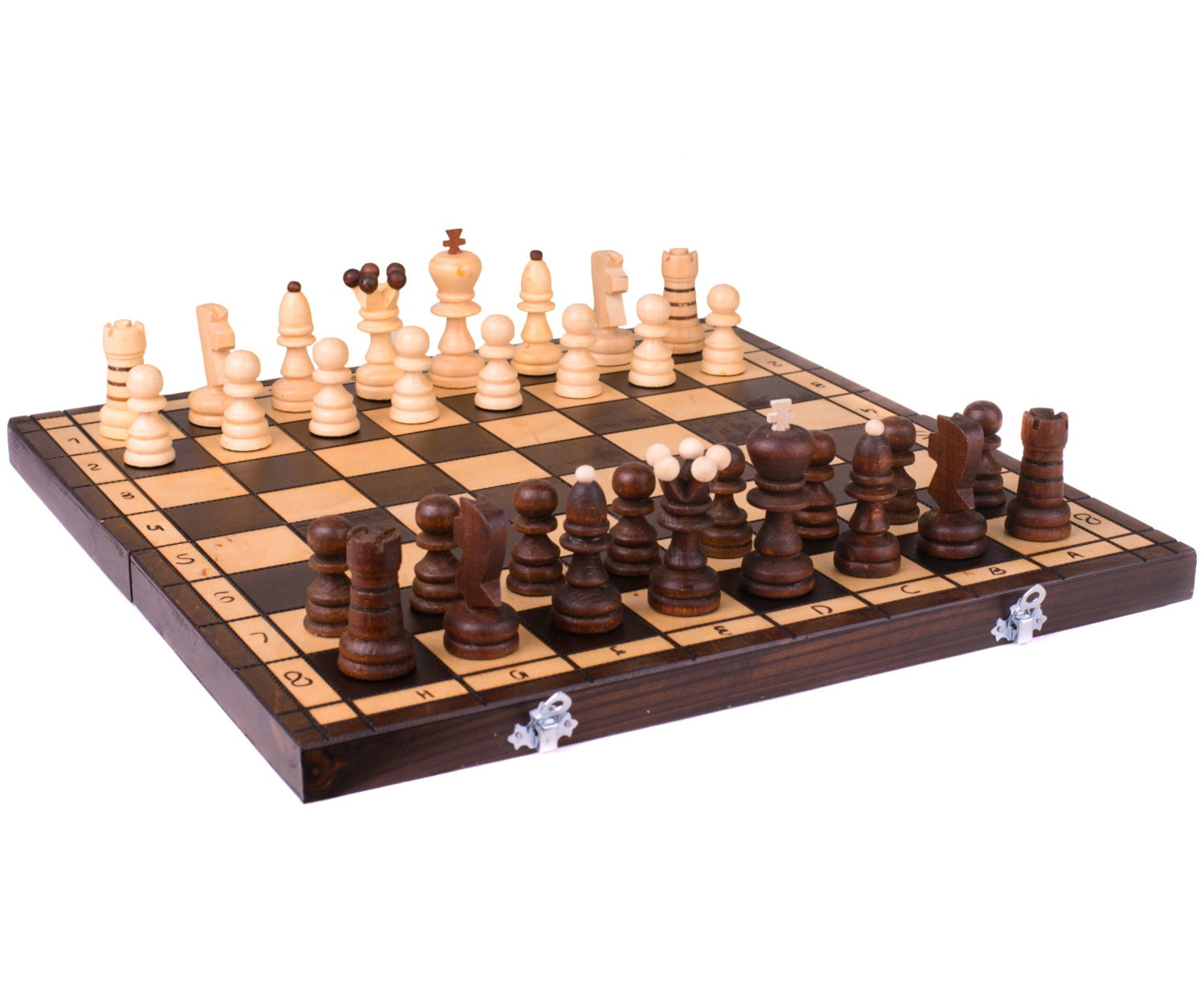 Wooden Chess Table ~ Wooden chess board set wood