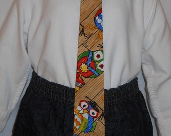 The Little Graduate Necktie, What a Hoot Necktie, Custom Boutique Owl Graduation Necktie, For Men and Boys of all ages, Unique, Handmade Tie
