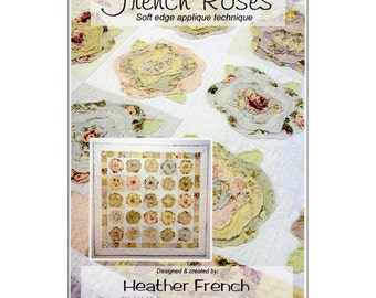 """Pattern """"French Roses"""" by Heather French (HEF01) Paper Quilt Pattern"""