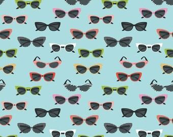 Sunglasses Aqua by Riley Blake Designs (C4553-AQUA) Fabric Yardage