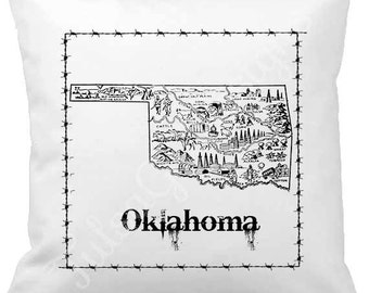 State of Oklahoma Pillow Cover