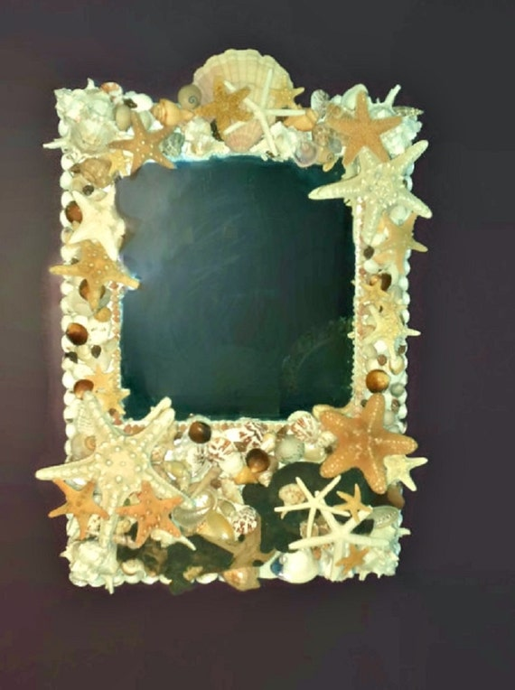 Large Wall Mirror Seashell And Driftwood And Starfish Mirror