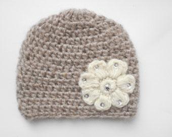 baby girl crochet hat,newborn crochet hat ,enfant hat