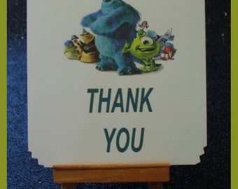 Monsters inc notes, Monsters Inc cards , Monsters Inc thank you card package of 10