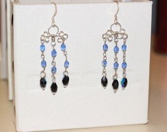 Blue Rain Earrings