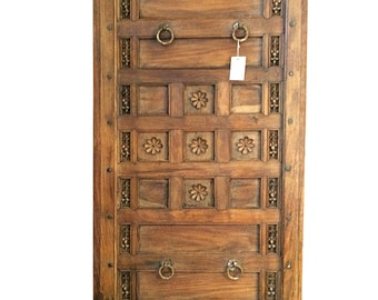 Antique Ceiling Architectural Detail Hand carved HEADBOARD LOTUS Carving Teak Panel Bohemian Design Eclectic Interiors