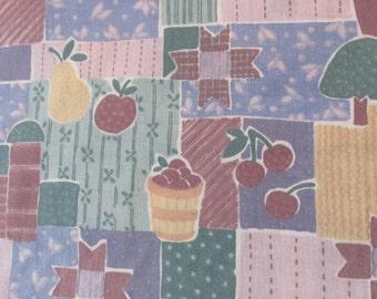 Patchwork Fruit and Farm Cotton