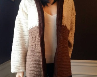Tri Color Cardigan