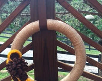 Felt Sunflower Wreath