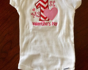 My First Valentine's Day Bodysuit! (Long/Short Sleeves Available)