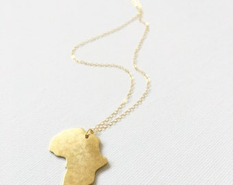 Brass Africa Necklace