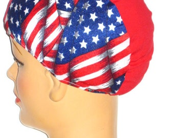 Go  USA! Lycra Swim Cap