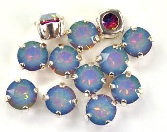 Swarovski 39ss Sew On Crystals 1088 White Opal Electra Xirius 4 Hole Sliders 6 Pieces