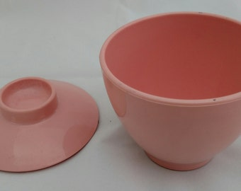 Pink Melamine Cream and Sugar Set