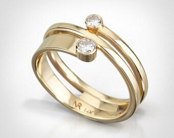 Modern gold ring Etsy