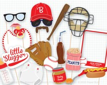 Baseball Baby Shower Photo Booth Props, Photobooth Props, Vintage Baseball Party, Little Slugger, Its a Boy Baby Shower, Oh Baby, New Baby