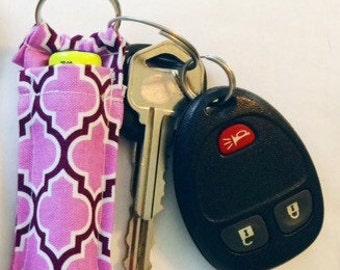 Chapstick Holder, Purple Keychain Lip Balm Holder, Lipstick Case