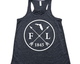 Homeland Tees Florida Arrow Women's Flowy Tank Top