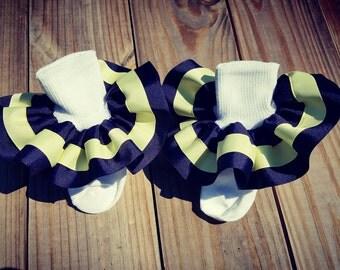 Full ruffle ribbon socks