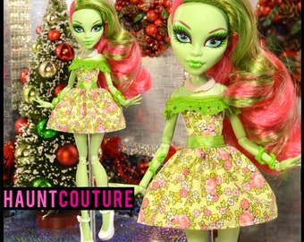 """Monster Doll """"Flower Girl"""" high fashion dress clothes"""