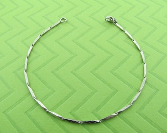 stainless steel ankel bracelet, available in 9 and 10 inches