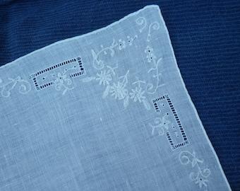 Vintage linen handkerchief #2