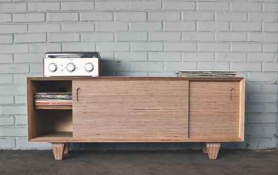 mid century modern media console. Black Bedroom Furniture Sets. Home Design Ideas