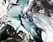Landscape Photography, Iceberg Photo, Iceland, Nature Photography,  Blue Ice, Glacier, Winter, Sólheimajokull - Blue Details