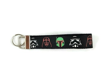 Dark Side key fob, Star Wars key chain, wristlet keychain, Fabric Wristlet, Key Ring, Stocking Stuffer, Teacher Appreciation Gift,