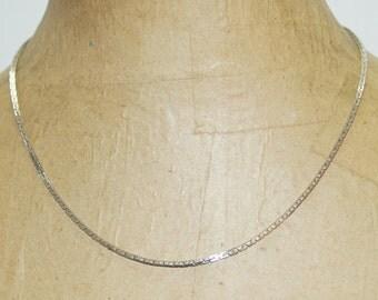 """Vintage Monet Silver Tone Chain 18"""" Necklace"""