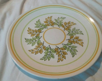 "Taylor Smith Taylor 10.5 inch Dinner Plate Collectible Kitchen Replacement Dish ""Mint"" Pattern"