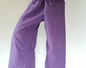Purple fisherman pant thai yoga pant pants men's Fashion fit for all