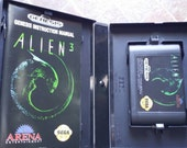 COMPLETE Aliens 3 Game Arcade Sega Genesis Booklet Sci fi Excellent condition Video Game Cartridge Ridley Scott Ripley RPG FPS