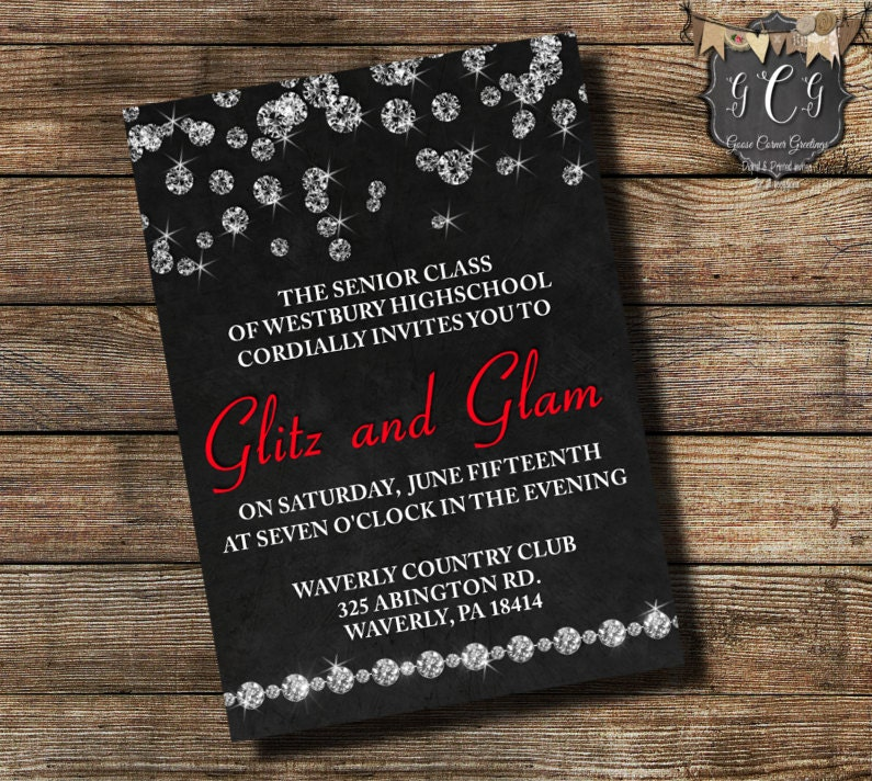 Invitation Prom - Best Custom Invitation Template   PS ...