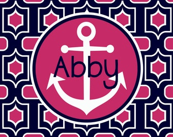 Personalized Placemat - Preppy Anchor Placemat 12x18