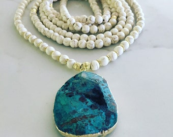 Ocean Jasper Beaded Necklace