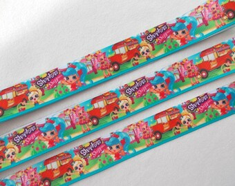 Shopkins Shoppies 3 yards… 7/8 grosgrain ribbon great for making Hair Bows, Scrapbooking, Sewing, and many other creative uses.