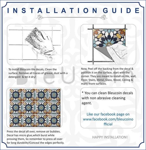 Bleucoin Tile Decal Backsplash: Rectangular Subway Tile Decals Encastic By Bleucoin On Etsy