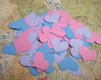 Die Punched  Hearts.  Confetti, Cupcake Toppers, Table and Card Decorations.  #OP-14