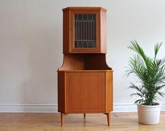 Danish Modern Teakwood Corner Bar Cabinet