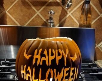 "9"" Hand carved Foam Pumpkin"