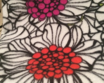 flowers with black fleece linning  snuggle sack for hedgehogs, rats, guinea pigs and small animals