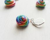 Unicorn Poop Stitch Marker. Rainbow. Unicorn. Glitter. Magical. Crochet. Knitting. Notions. Ready to ship