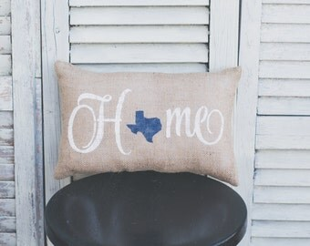 Home Decorative Pillow Decor Pillow Home Pillow state pillow texas pick your state pillow burlap pillow fabric pillow home decor 14x9 pillow