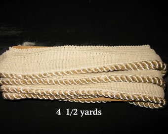 Lip Cord, Upholstery Cord Trim Satin Twist Cord 4 1/2 yards