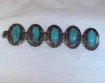 Chunky Turquoise Vintage Bracelet