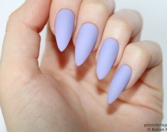Stiletto nails, Matte lilac stiletto nails, Fake nails, Press on nails, False nails, Stiletto false nails, Press on stiletto nails