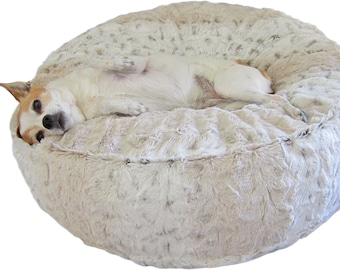 Luxury Dog Bed - Small Ivory